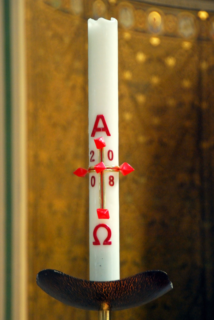 Paschal candle in the catholic churchBig liturgical candle? Uploaded byhisks sxchu